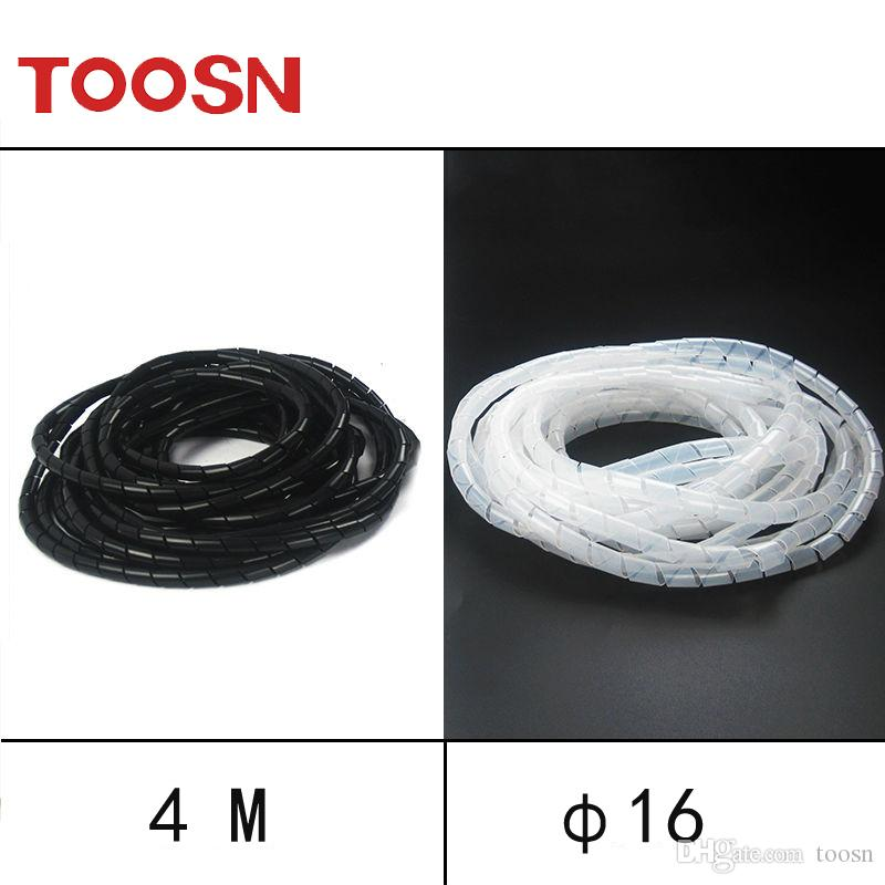 2018 Toosn 16mm*4m Spiral Tube Flexible Cord Pe Home Cinema Cable ...
