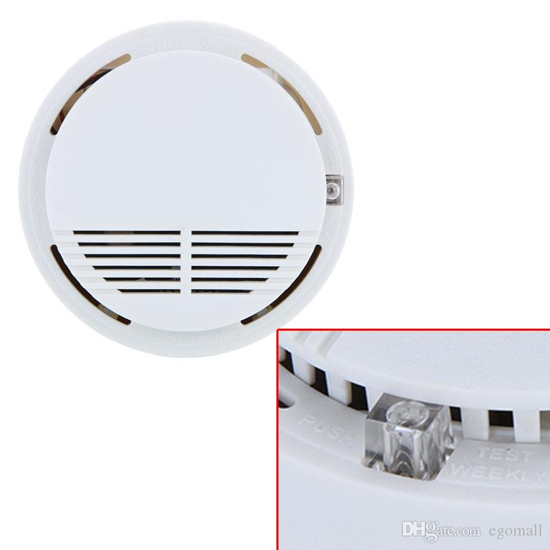 Wireless Fire Smoke detector sensor alarm Home Security System White in retail package dropshipping