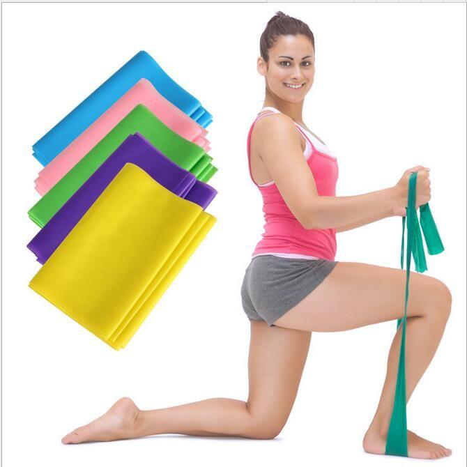 Yeni yoga pilates Stretch Direnç Band Egzersiz Fitnes Eğitimi yoga gerginlik kemer Elastik Stretch Band 1200MM