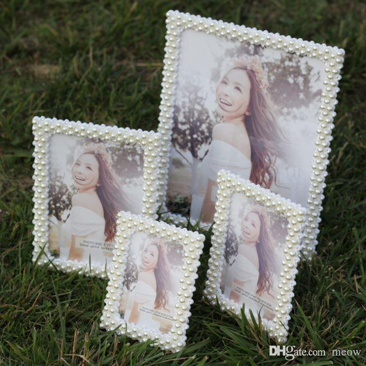 Pearl Photo Frame Handmade Crystal Diamond Rhinestone Studio Picture