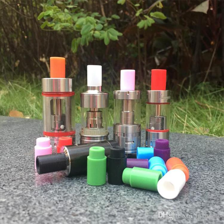 Disposable Silikonmunstycke Dropptips för E cigs Assorted Acrylic Rainbow-patroner 510 Skyddslock Tips för Atlantis subtank mini nano