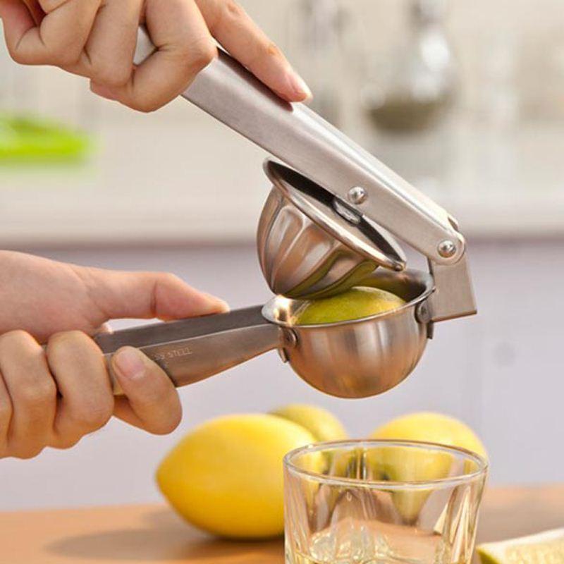 1pcs Stainless Steel Lemon Orange Hand Squeezer Juicer Manual Press Kitchen Tool Kitchen Accessories 7 5 X
