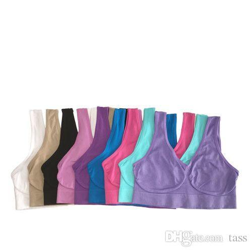 Top Quality Sexy Underwear Seamless Ladies ahh Bra Sizes Sport Bra Yoga Bra Microfiber Pullover Bra Body Shape 6 size