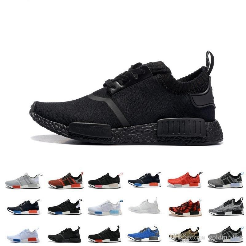 c0206ff71 2019 2019 NMD R1 R2 Monochrome Mesh Triple White Black Men Women Running  Shoes Fashion NMD Runner Primeknit Casual Shoes Trainer Designer Sneaker  From ...