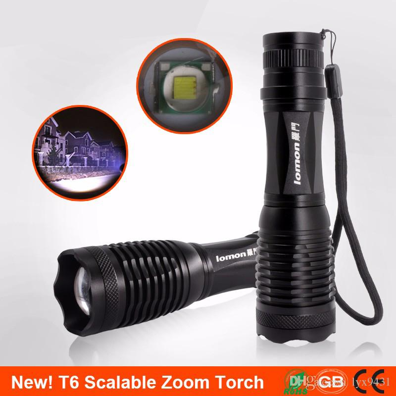 Zoomable LED Flashlight XM-L Cree T6 Tactical Camping Portable Light 18650 Rechargeable Zoom Flash Light Outdoors Bicycle Cycling Light