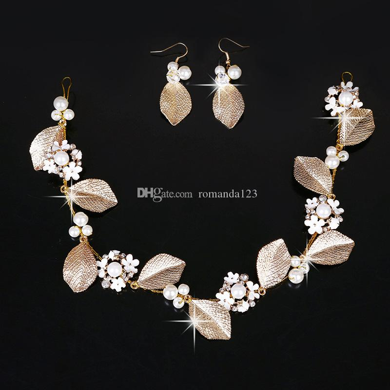 DHL Fashion Europe and American Bride Hairpin handcraft plate hairpin gold leaf hairpin Wedding Stick Jewelry hair accessories