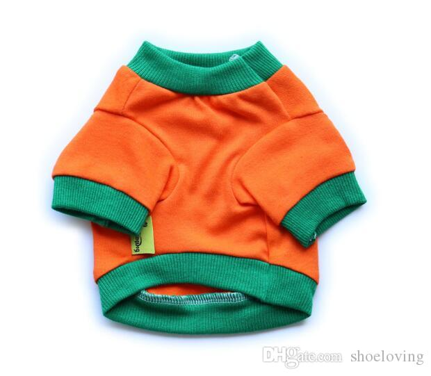 Pet clothes Dog clothing dog clothes Halloween costumes orange pet cloth cotton pumpkin lovey for Teddy small size dogs