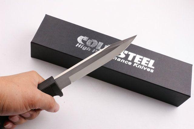 2016 Nuevo cuchillo recto de supervivencia SRK de acero frío 9Cr18Mov cuchilla de acero 59HRC cuchillo de caza al aire libre con caja original