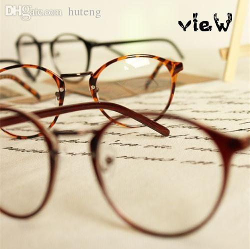 2017 most popular eyeglasses menwomen round frame eyewear fashion eye glasses high quality have lens myopia from hdqstore 1955 dhgatecom - Most Popular Eyeglass Frames