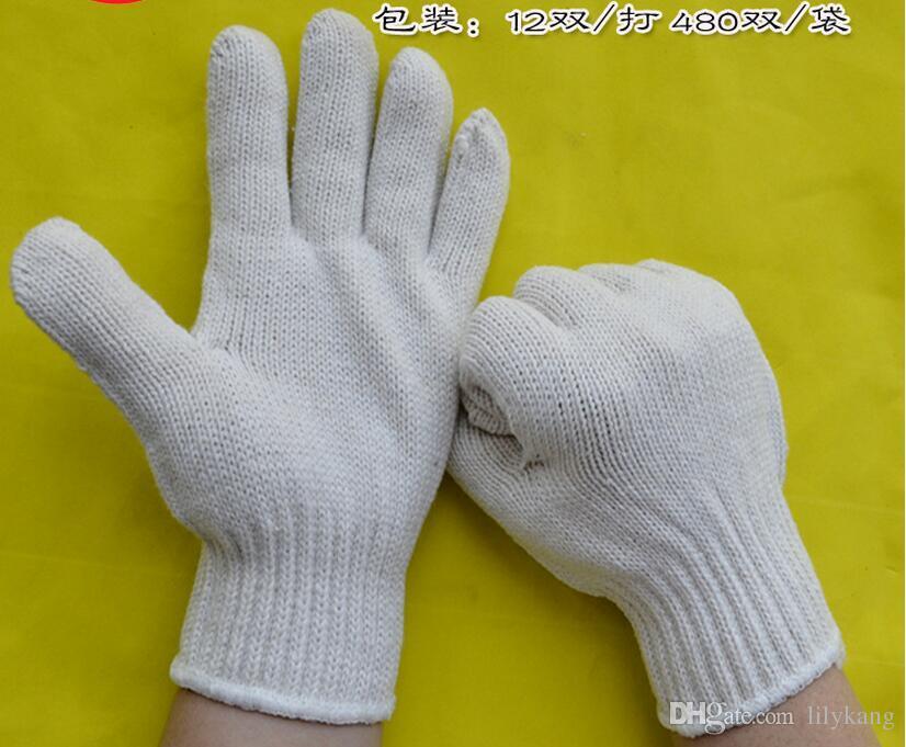 2016 Nuevos guantes de trabajo llegados guantes cómodos kintted guante de algodón guante de seguridad barato guantes de trabajo de cuero envío gratis