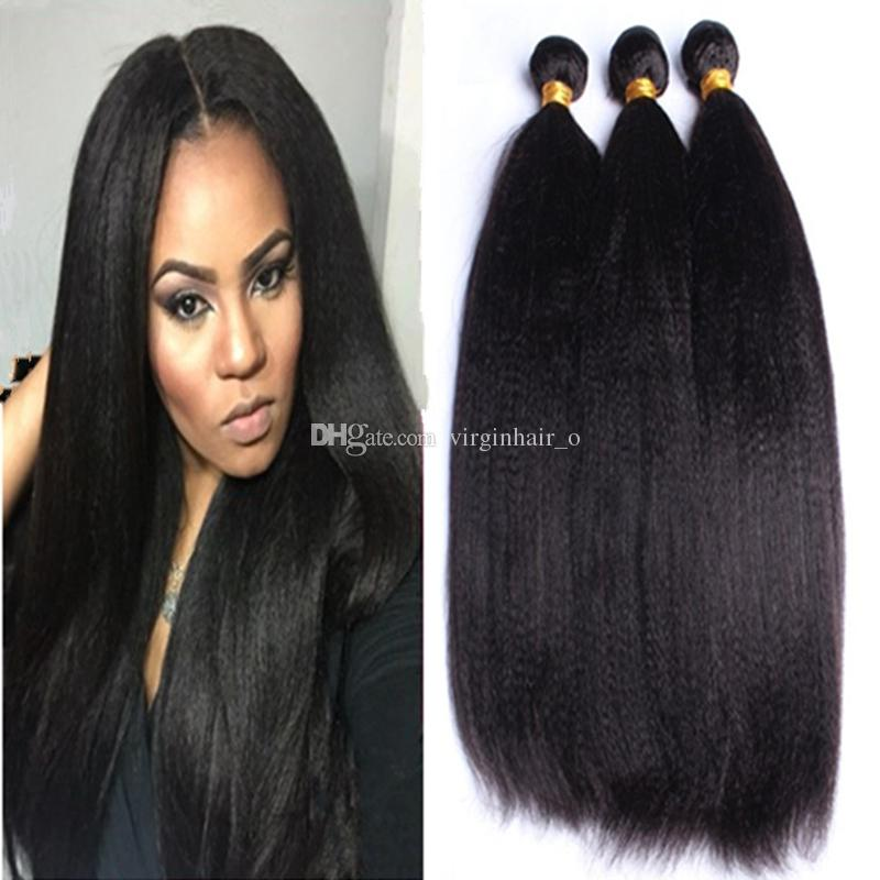 Brazilian Light Yaki Human Hair Weaves Soft