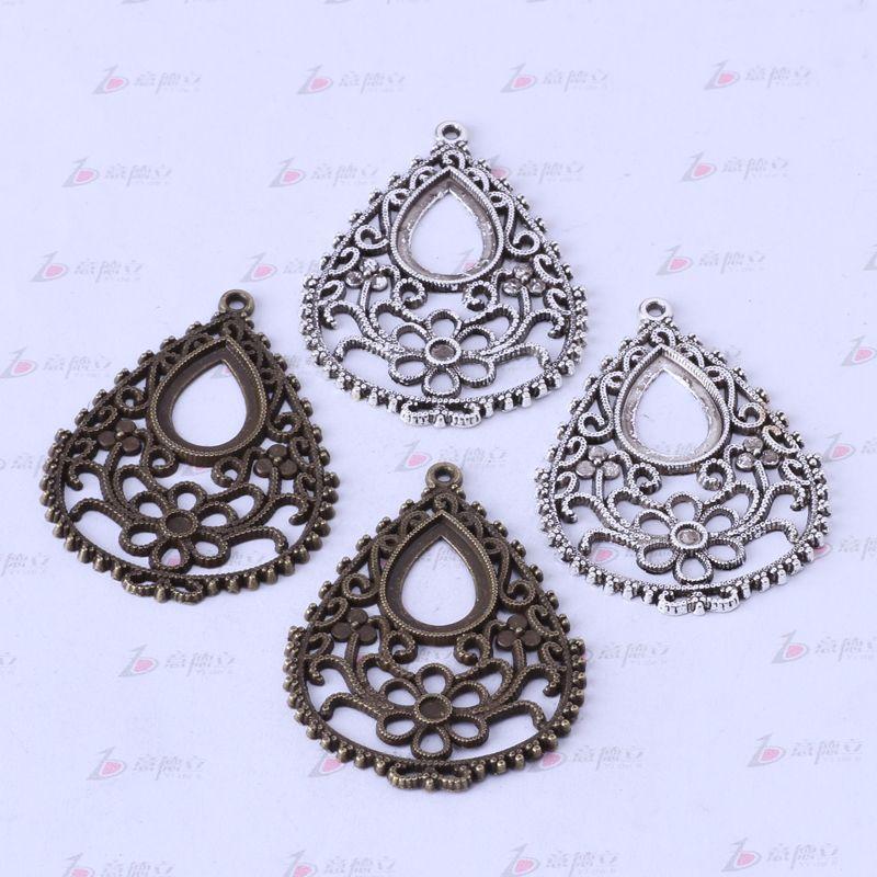 Encantos de la pera hueco vintage antiguo plata / aleación de bronce colgante de zinc collar colgante de joyería DIY / 3355z