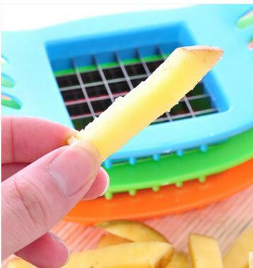 Potato Chips Cutter Mashers Tool CE / EU ECO Friendly Stainless Steel Vegetable Slicer Ricers for Kitchen Cooking