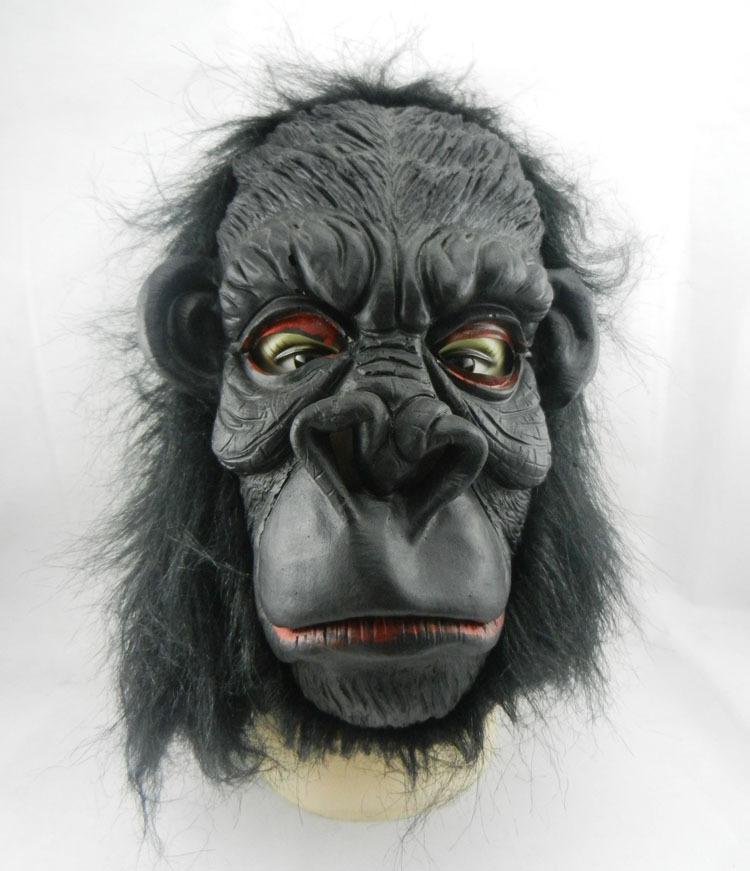 Cadılar bayramı Maskesi Lateks Maske Büyük Kulaklar King Kong Orangutan Maske Blooding Hayalet Cosplay Kostümleri Gerçekçi Silikon Maskeleri Masquerade