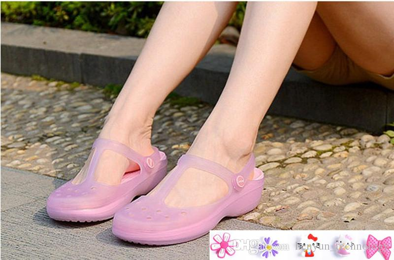 3270e49417b652 Woman Summer Change Color Sandals Beach Shoes Girls Jelly Female Garden  Shoes Get Shoes Decorative Flowers Sandal Ladies Shoes From  Henyun technology