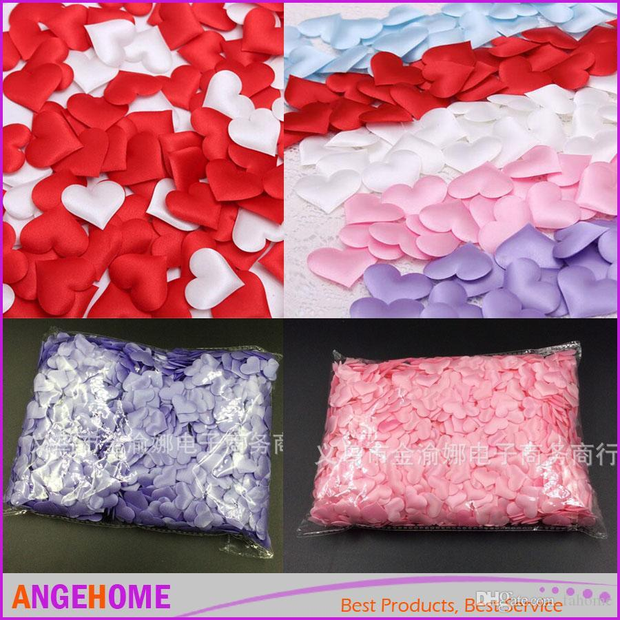 Fabric Heart Dia 2cm Wedding Party Confetti Table Decoration ...