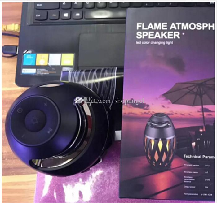 Led flame speaker Torch atmosphere Bluetooth speakers&Outdoor Portable Stereo Speaker with HD Audio and Enhanced Bass