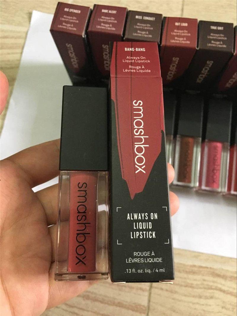 Neue Smashboxen immer auf flüssigem Lippenstift-Stern-Lippenglanz-Make-up 12 Farben Lipkit Tätowierungs-Tönung Lipgloss Cosmetics