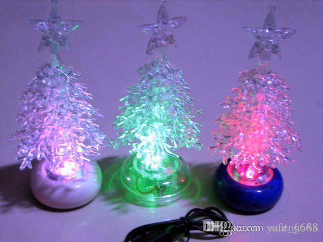Usb interface acrylic christmas tree colorful led christmas light