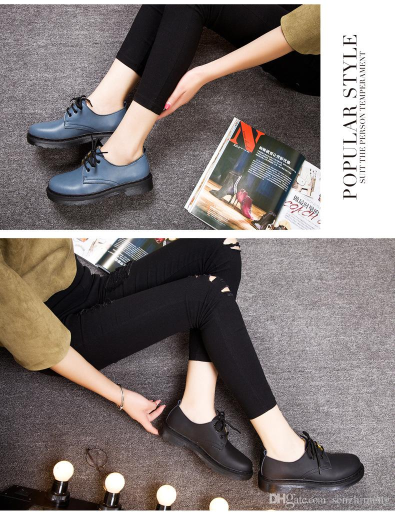 HOT SELL British style leather shoes rub color Martin College Wind women students shoes shoes shoes bulk shoes Martin England