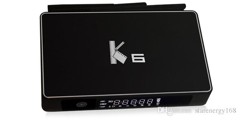 2016 smart Android TVB ox audiophile K6 AM logics812 quad core Android 5.1.1 2GB / 16GB flash 1000 base T avec disque dur externe P-TH