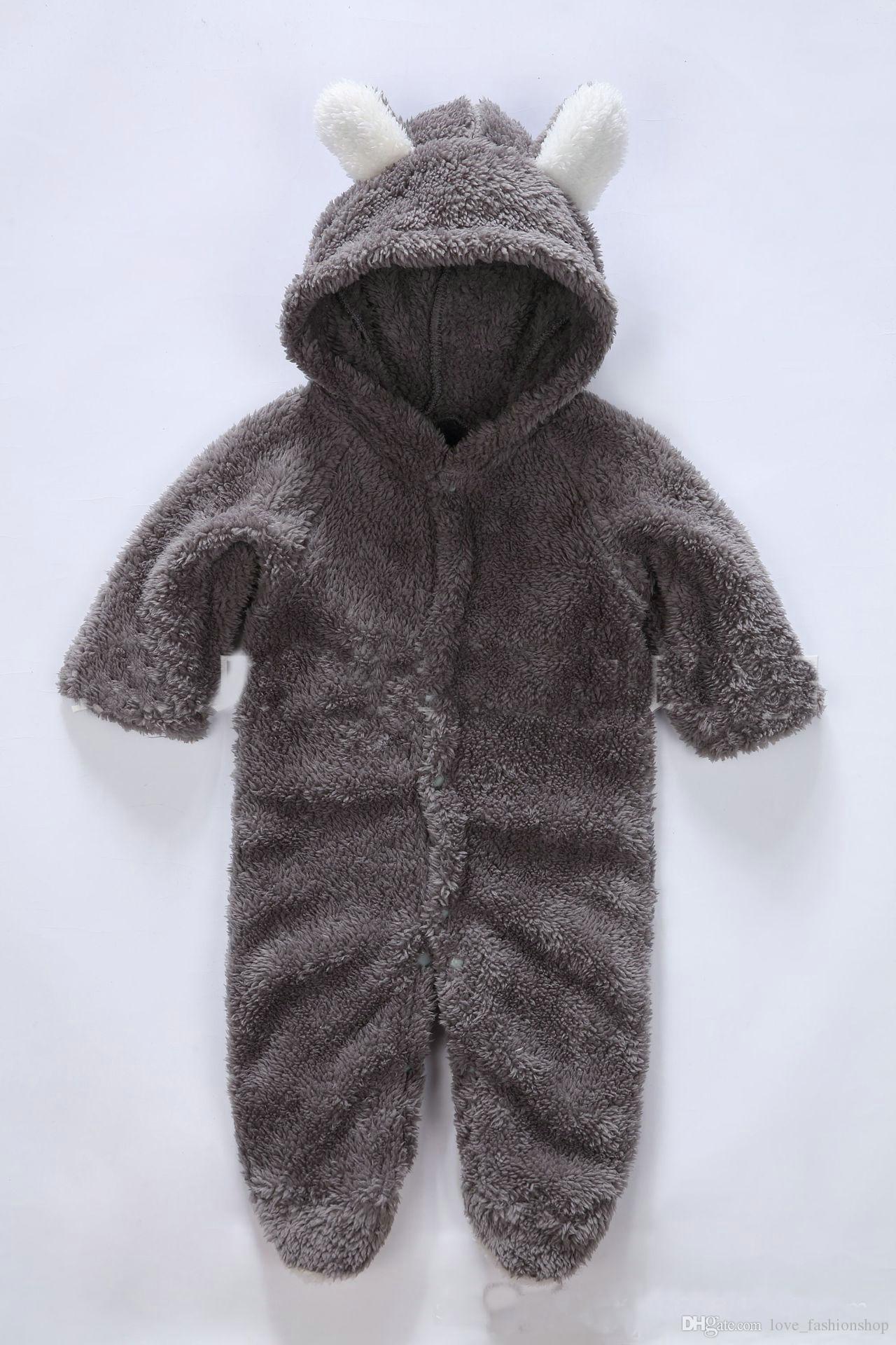 5スタイルベビーロンパース女の子男の子ワンピースパターンアニマルウォーマーティンセンサンタルフリースジャンプスーツクライム服子供幼児ブティック服