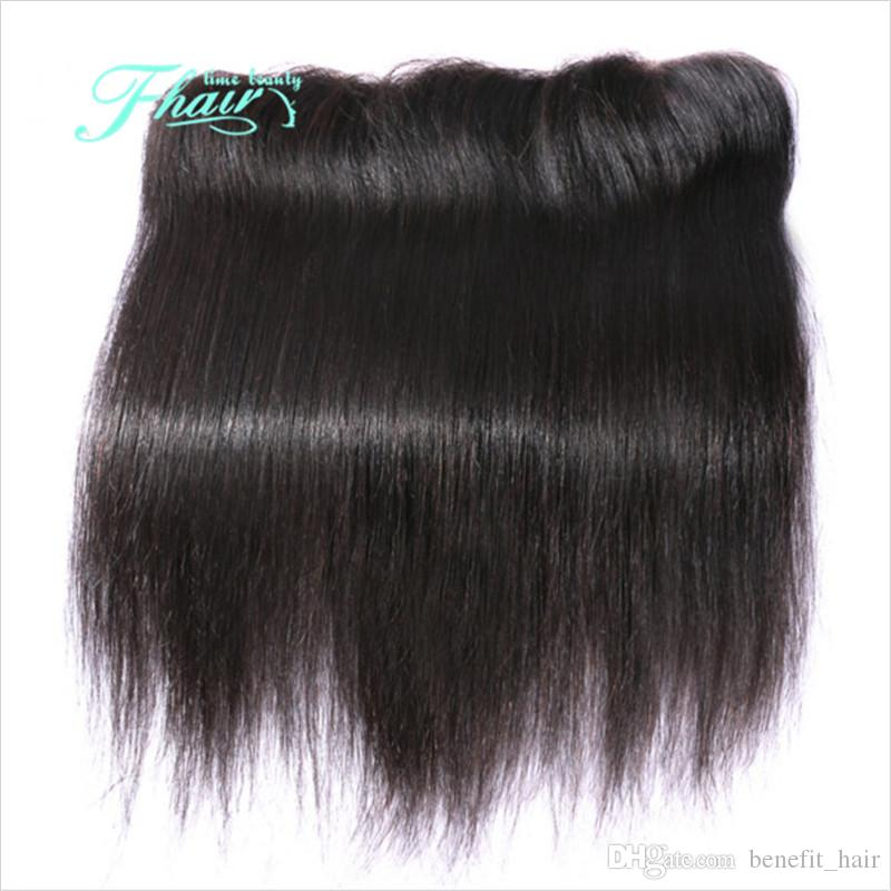 8a malaio em linha reta 13 * 4 lace frontal encerramento livre peças de cabelo em linha reta cabelo humano lace full frontal com o cabelo do bebê