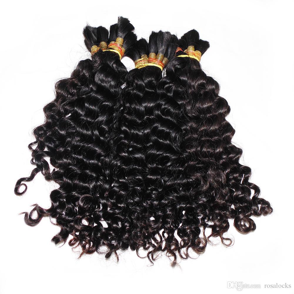 Factory Direct solto onda profunda massa de Cabelo 3 Pacotes / Weave Good Hair Braid peruano do cabelo humano