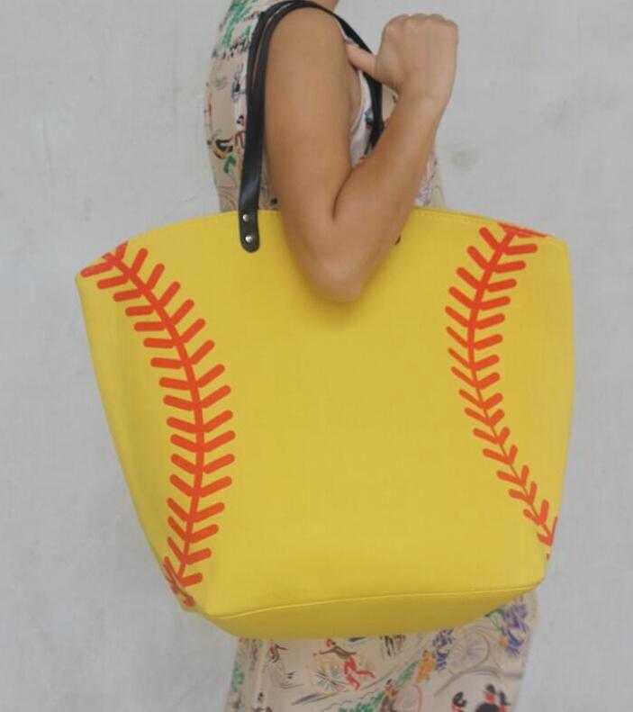 wholesale Baseball Tote Bags Sports Bags Casual Tote Softball Bag Football Soccer Basketball Bag Cotton Canvas Material