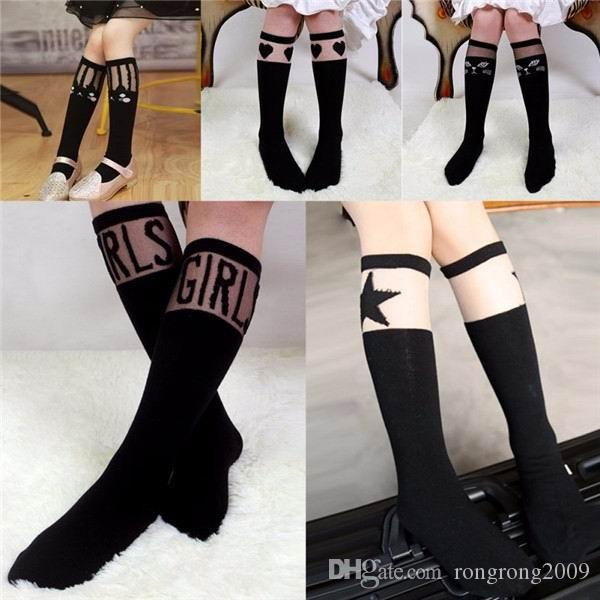 dc0af9005e8 2016 New Baby Kids High Knee Socks School Cartoon Cat Lace Solid Stockings  Leg Warmer For Girls C0557 Socks Manufacturer Socks 5 From Rongrong2009