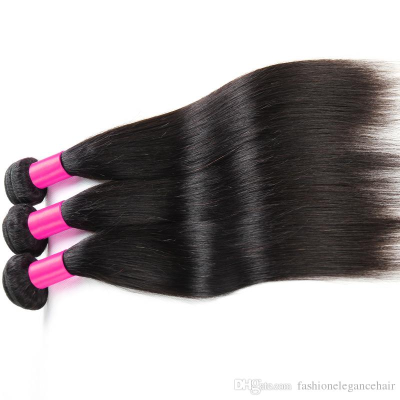 Peruvian straight hair extension wholesale price fast shipment Brazilain Indian Malaysian hair no shedding 3/natural straight hair