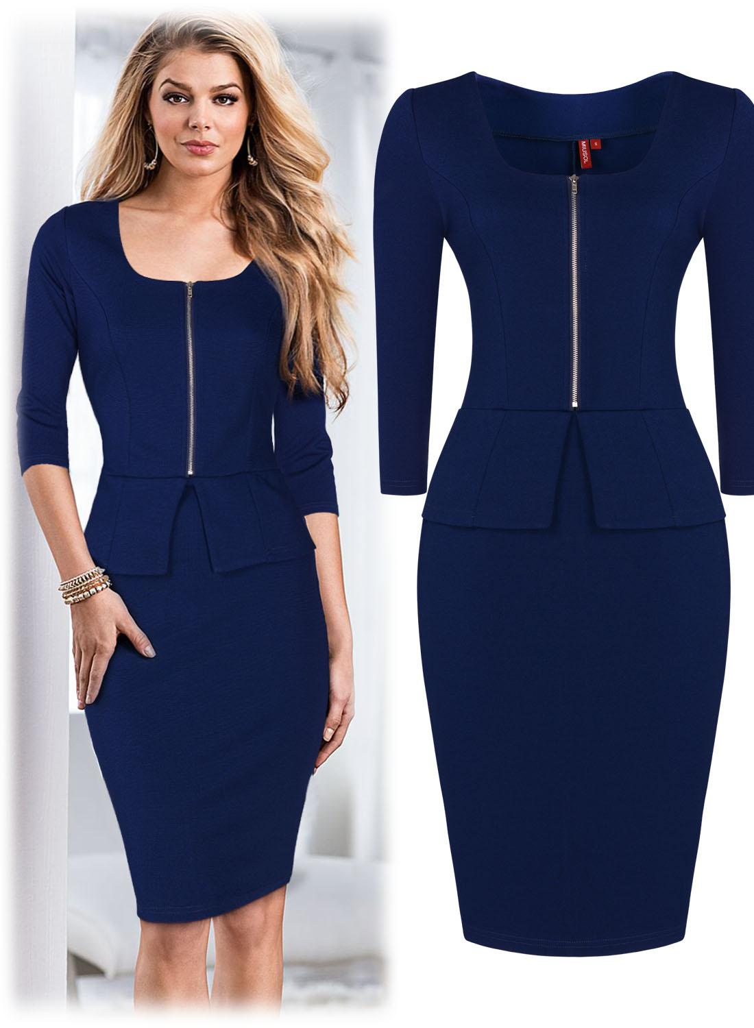 f02b0ea3a3 Women s Office Lady Work Elegant Bodycon Cocktail Party Mini Dresses Work  Wear Work Dress Fashion 3165 Pencil Dress Cocktail Party Dress Work Dress  Online ...