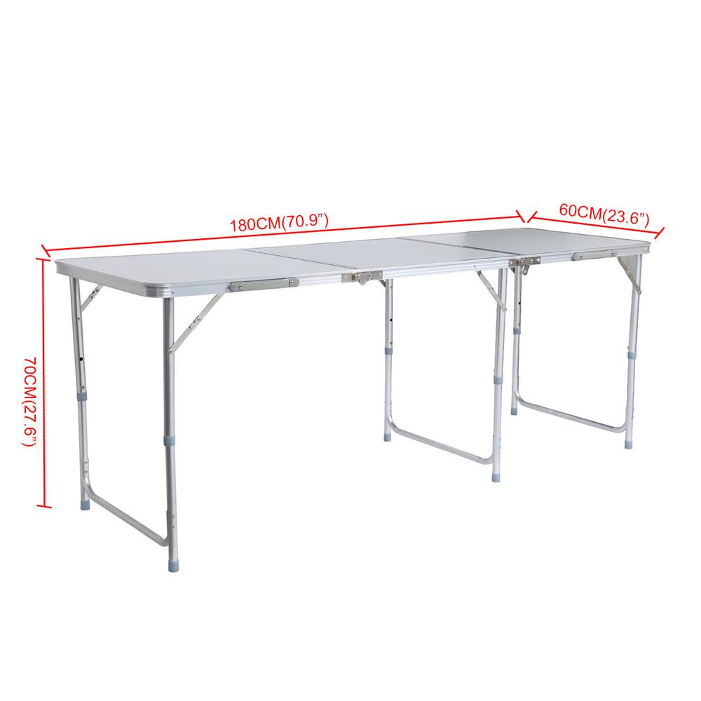 2018 Aluminum Portable Adjustable 180cm 6ft Folding Trestle Table For  Outdoor Camping Home Picnic Table From Telaide, $445.08 | Dhgate.Com
