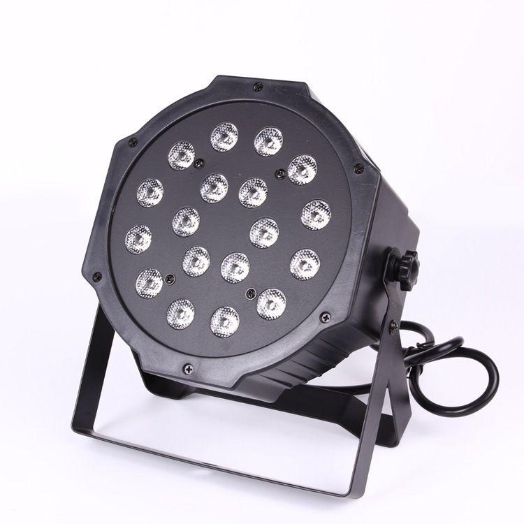 Luce di fase a LED RGB 18W Luce di fase a LED Par DMX-512 Lampada a luce laser Chrismas Light Proiettore Party DJ Light