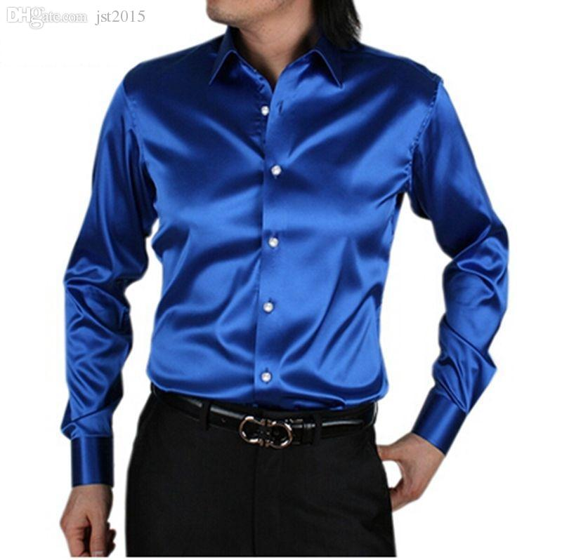 55d1c2925bf Wholesale-Chemise Homme 2016 New Custom Made Men Shirt Long Sleeve ...