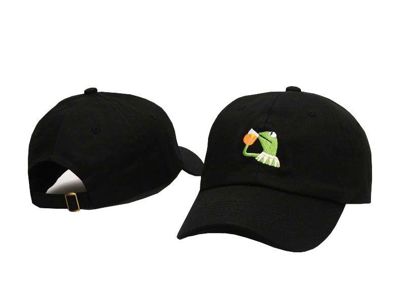 c4edfe4cdc0 KERMIT TEA Hat Slide Buckle None of My Business Emoji King Lebron ...