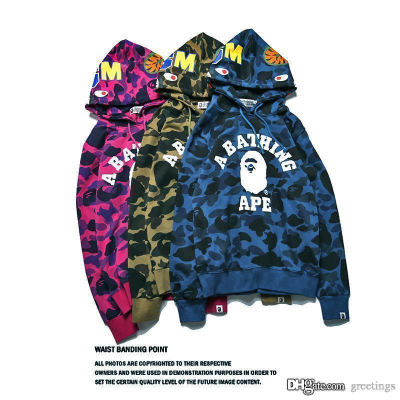 2018 mens camouflage shark pullover hoodies sweatshirt fashion 2018 mens camouflage shark pullover hoodies sweatshirt fashion casual jecket coat popular brand japanese high qualiy hoodies sizes s 2xl from greetings m4hsunfo