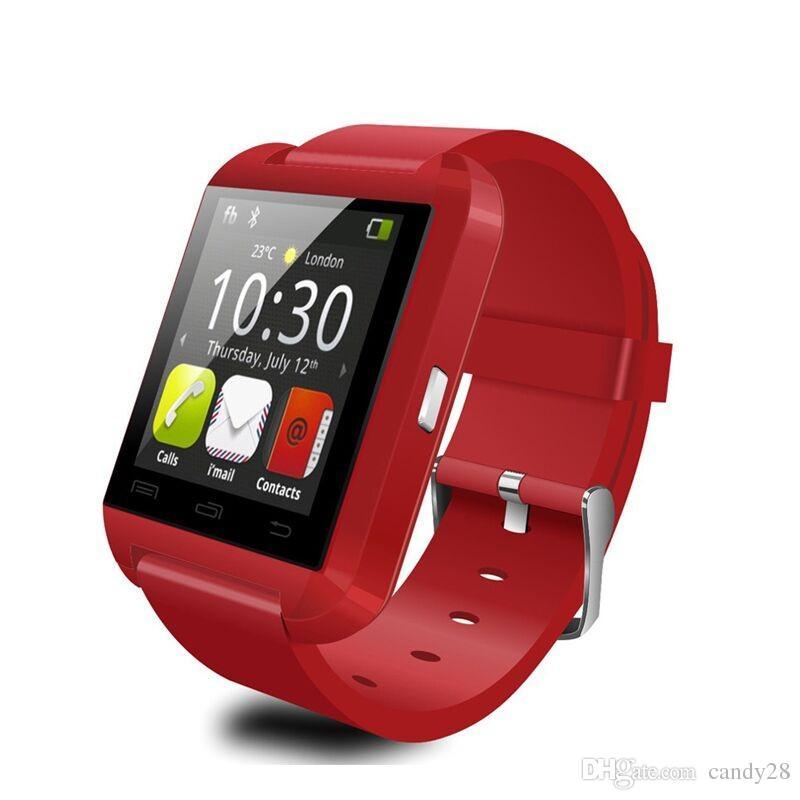 U8 Bluetooth Smartwatch часы DZ09 GT08 Smart Watch наручные часы для iPhone7 6S 5S Samsung S7 S6 Note5 4 HTC Android телефон смартфон