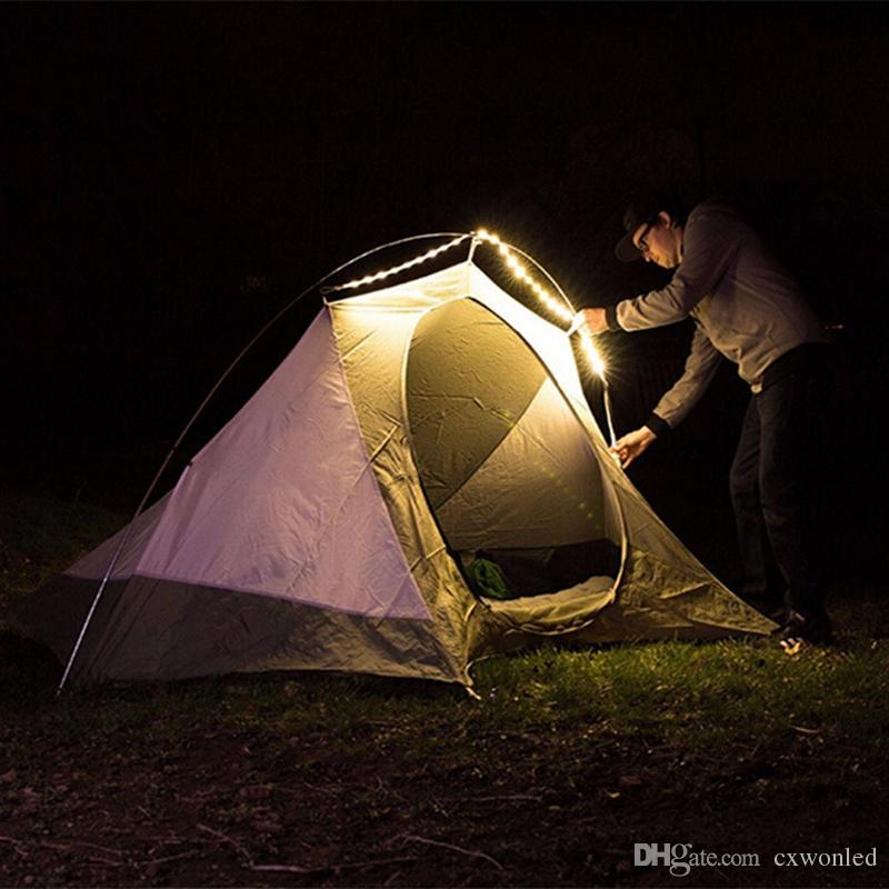 USB LED Strip Light Flexible White Warm Light Portable 1.5m Waterproof SMD 3528 Lantern Lamp For Camping Hiking DC5V