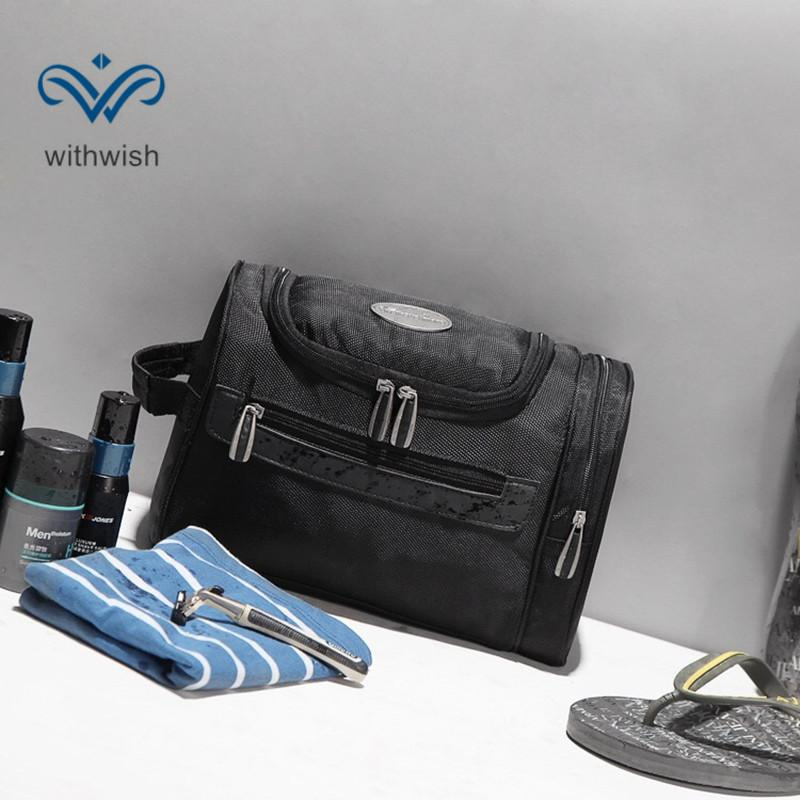 personalized toiletry bag for men zipper travel multifunctional
