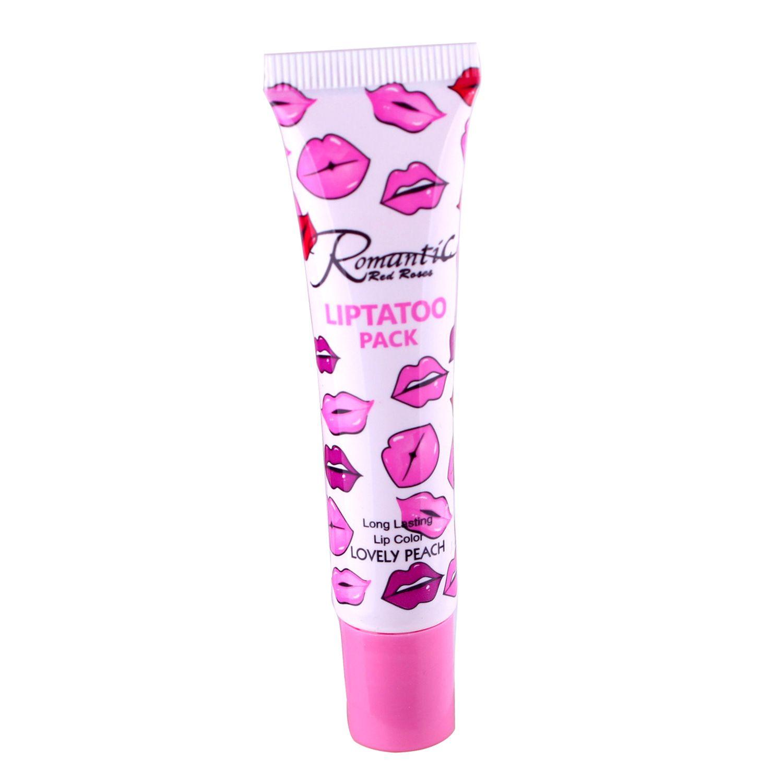 2016 Più nuovo Romantico Liptatoo Pack i Lip Gloss Lipstick Peel-Off Duras Marine Collagen Lipstick Balsam Balsami Lip Gloss DHL Gloss DHL