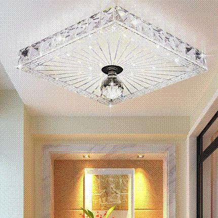 Best Quare Crystal Ceiling Lights Balcony/Hallway Lighting 12w Recessed/Surface Mounted Led Ceiling L&s Ac 100 240v19x19cm Light Magnifier . & Best Quare Crystal Ceiling Lights Balcony/Hallway Lighting 12w ...
