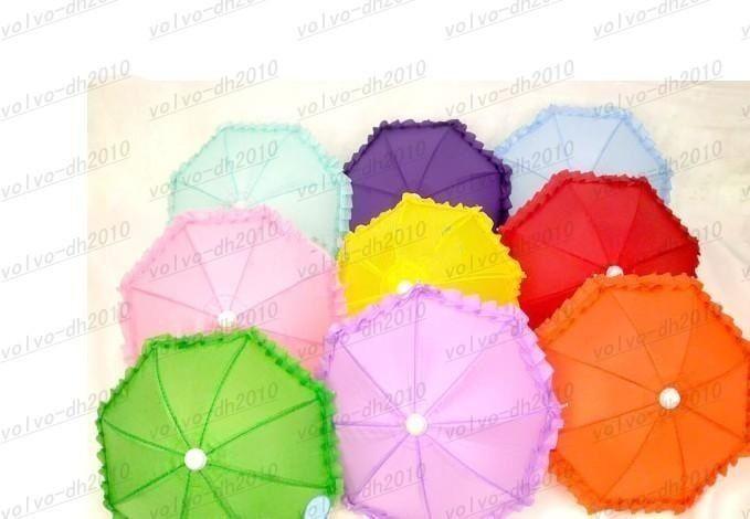 Los juguetes decorativos de la danza del mini 22CM Multicolor de los niños al por mayor, paraguas, accesorios, envío libre del cordón del paraguas del arte LLFA122