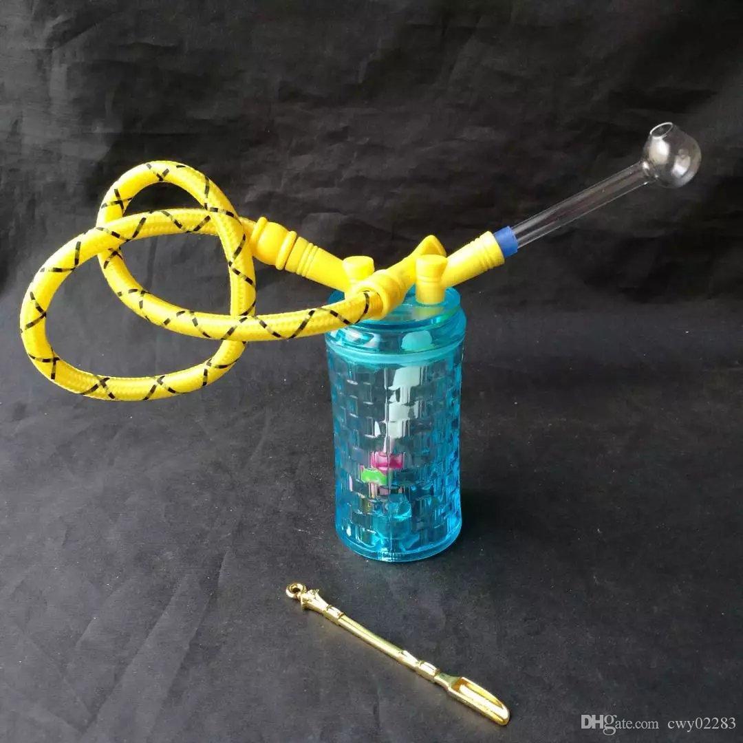 Blaue Acrylhuka, Großhandelsglaspfeifenzubehör, Glaswasserpfeife rauchen, freies Verschiffen