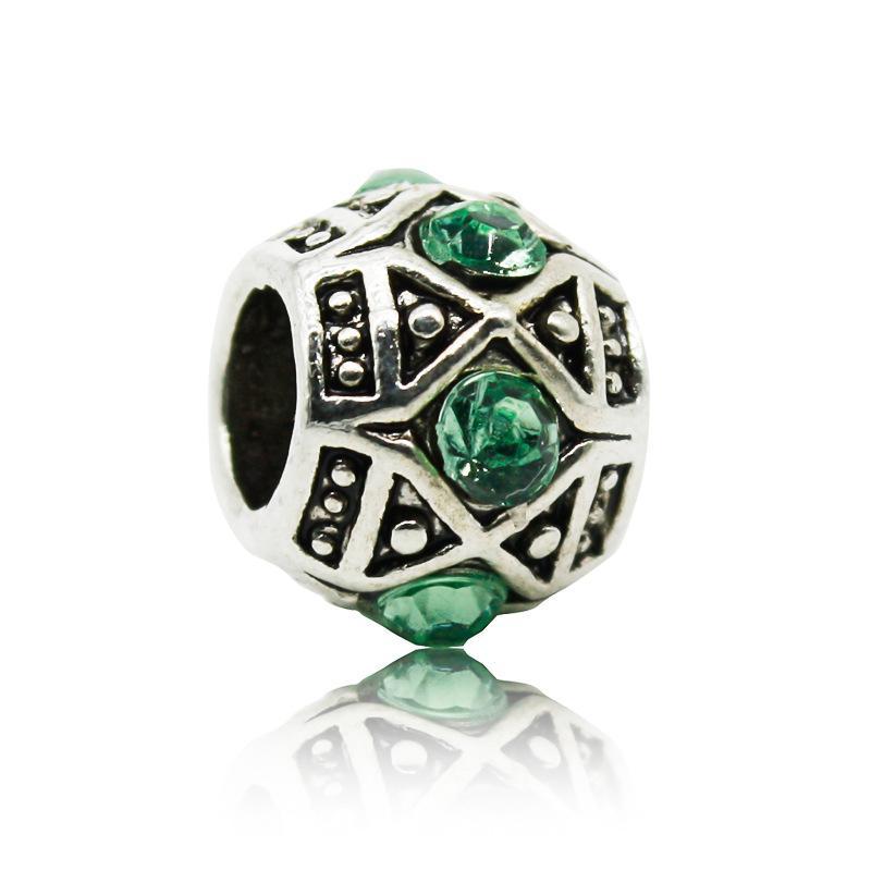 Forme el grano cristalino del encanto granos europeos aptos mujeres Pandora pulsera brazalete DIY accesorios originales de la joyería al por mayor