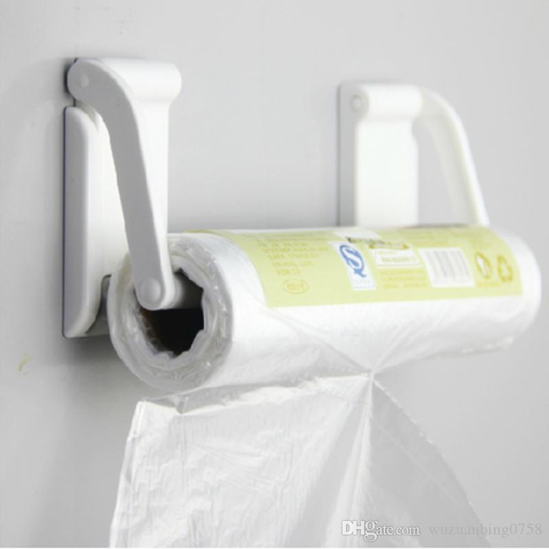 online cheap 2 in 1 magnetic toilet paper holder refrigerator storage box plastic wrap roll holder wall shelf kitchen bathroom accessories by wuzuanbing0758