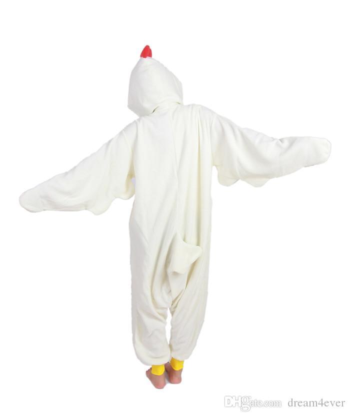 SS Chicken jumpsuit Animal Suits Pajamas Onesies Cosplay Costume Adult Pyjamas for Women Men Child