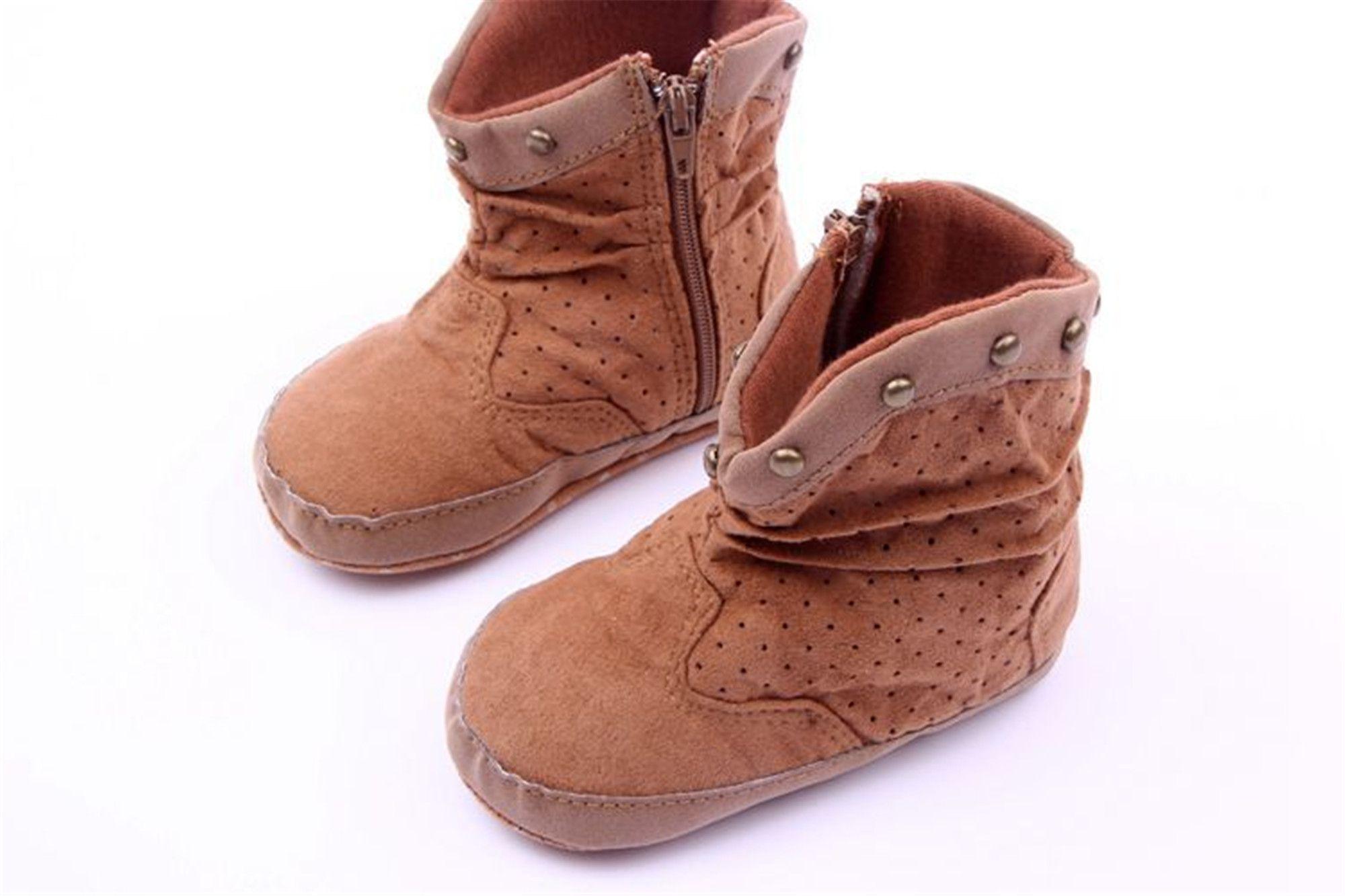 Winter Fashion Baby Boys Snow Boots Shoes Warm Soft Bottom Baby Boys