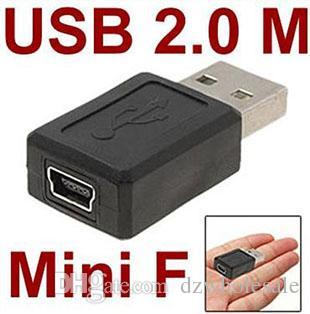 All'ingrosso USB 2.0 A tipo maschio a Mini 5pin USB B tipo femmina connettore Connector convertorc / SPEDIZIONE GRATUITA