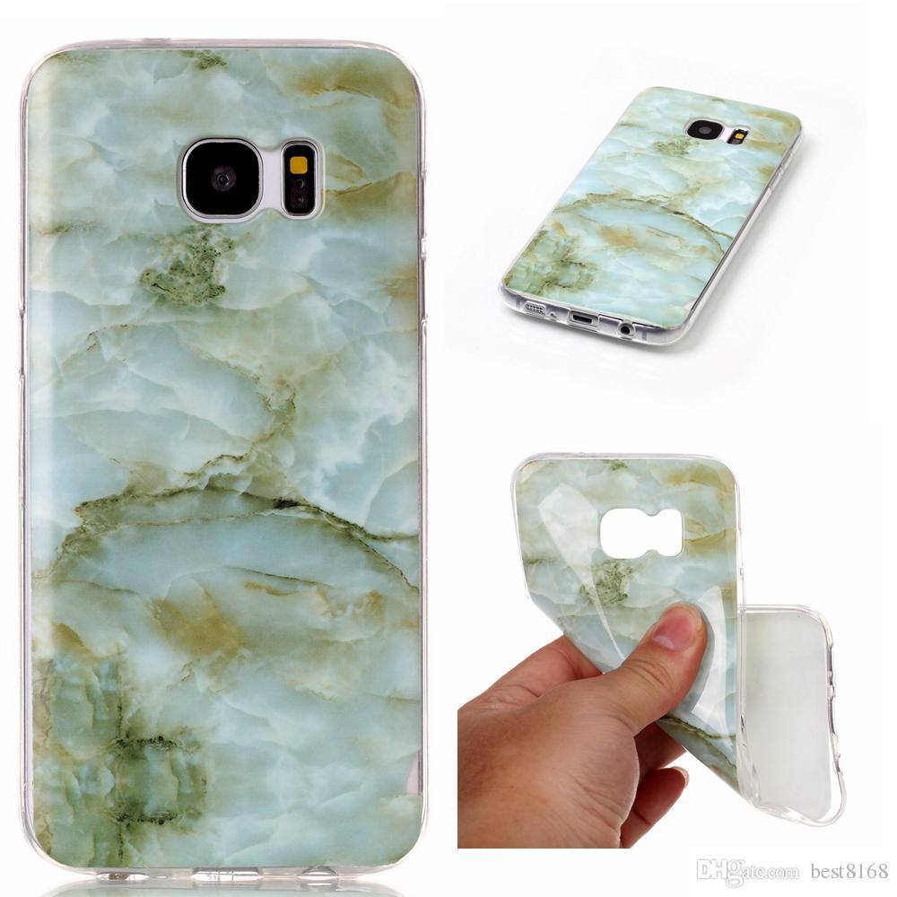 Custodia rigida in TPU IMD in marmo roccia Galaxy S8 / Edge / S7 / Edge / S6 / Grand Prime G530 / J5 / J7 / J3 J310 / J510 / J710 / S5 Pietra Gel Cover Cover in silicone